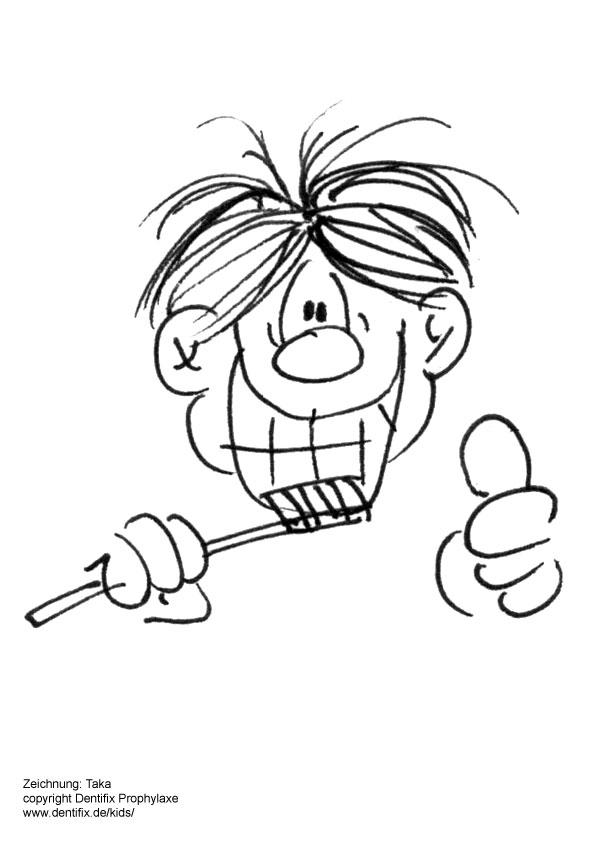 Malvorlagen für Kinder zum Thema zähneputzen und Zahnpflege