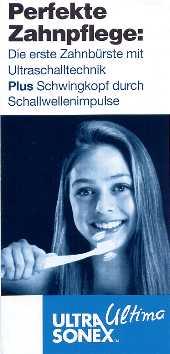 ultra sonex ultima: angenehm, sanft, beste Eigenschaften zur Reduktion von Zahnfleischproblemen.